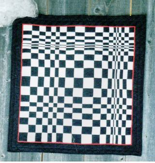 Bevs First Optical Illusion Quilt