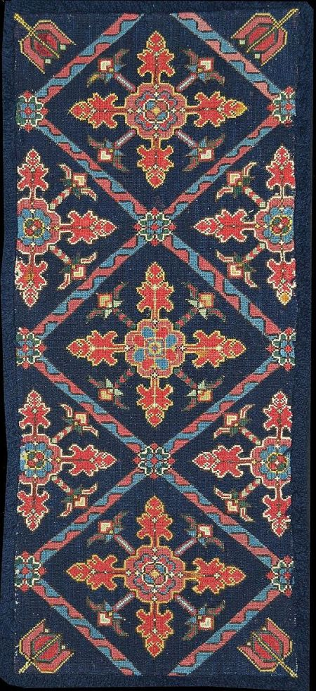 Agedyna blue ground floral cruciform WRS 1200 turned
